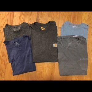 Men's T Shirt lot: Carhartt, GAP, Eddie Bauer M-L